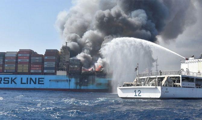 Fire Incendio Maersk Honam