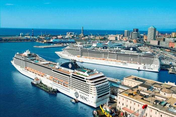 Porto genova navi da crociera