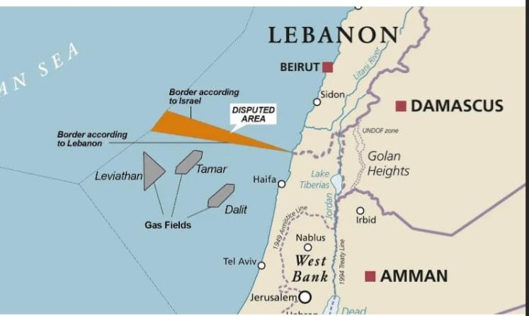 Libano confini