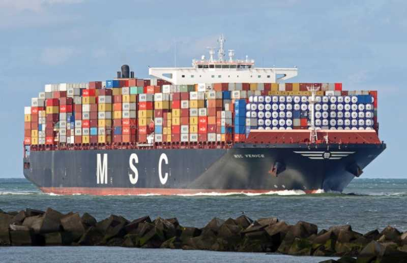 MSC portacontainer